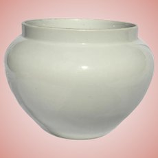 Pure White Antique French Limoges Jardiniere Large Size