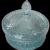 Lovely Vintage Covered Glass Jar