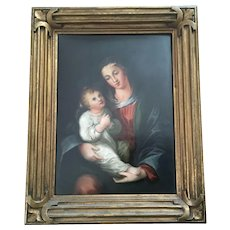 Stunning French Limoges Plaque Religious Fantastic Frame