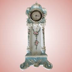 Awesome Antique French Limoges Clock Roses Ornate