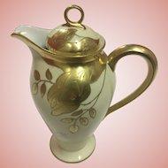 Elegant Antique French Limoges Chocolate Pot Gilded