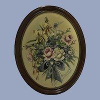 Floral Still Life Janet E. Greenleaf Oil Painting