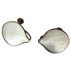 Vintage Sterling Enamel Earrings Norway