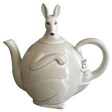 Vintage Kangaroo Teapot Fitz and Floyd