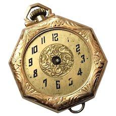 Antique 14K Gold Pocket Watch Morays Watch Case Co.