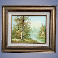 Vintage Landscape Oil Painting Signed
