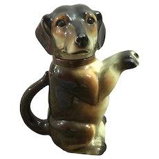 Vintage Majolica Dog Teapot Erphila, Germany