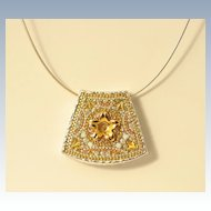 Modern Design Sterling Silver Pendant Necklace