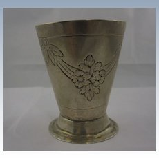 Antique Solid Silver German Augsburg Beaker Cup c. 18 Century