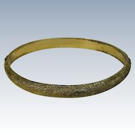 Vintage Gilt Sterling Silver Bangle Bracelet