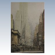 Luigi Kasimir Authentic Aquatint Etching 500 Fifth Avenue New York