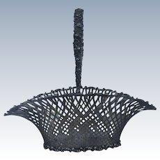 American Sterling Silver Pierced Latticework Fruit Basket