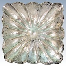 Antique Hand Hammered Solid 800 Silver Austrian Bowl Centerpiece Dish Austria Early 1900s