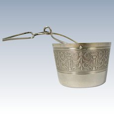 Art Nouveau French 950 Sterling Silver Tea Strainer