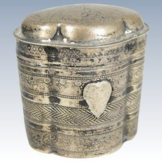 Antique XIX Century Dutch Hinged Snuff Pill Box