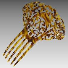 Art Deco Hair Comb Faux Tortoiseshell Oversized Hair Accessory 1910s – 1920s
