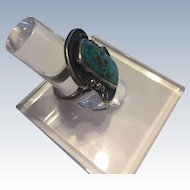 Vintage Native American Turquoise Sterling Silver Ring