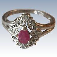 Ruby 10K White Gold Ring