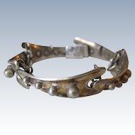 Mid Century Modern Sterling Silver Bracelet by Sigi Tasco