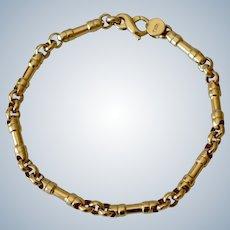 Tiffany & Co. 18K Yellow Gold Bar Chain Link Bracelet
