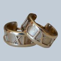 Tiffany & Co. Italian 18K White Gold Atlas Hoop Earrings