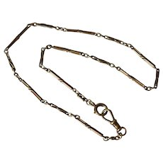 Antique 14K Yellow Gold Link Watch Chain Necklace/Choker