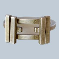 """Tiffany&Co. Sterling Silver Frank Gehry """"Axis"""" Ring"""