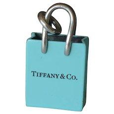 Tiffany & Co. 925 Silver Shopping Bag Charm/Pendant