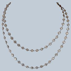 14K Rose Gold Cubic Zirconia Layered Station Necklace