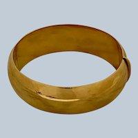 Original Tiffany & Co. 18K Yellow Gold Classic Bangle Bracelet