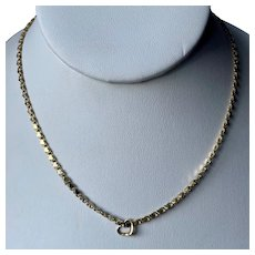 14K Yellow Gold Heart Link Chain Necklace