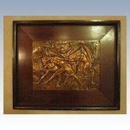 Dancers - Copper Relief Sculpture - New York Artist Rhea Zinman