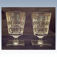 Pair of Hawkes Crystal Wine / Water Goblets