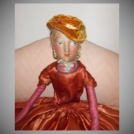 Beautiful Cloth Boudoir Salon Bed Doll