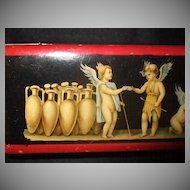 Wonderful Stamp Box Made In Italy With Cherubs