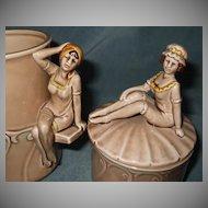 Bathing Beautiful Cup & Jar Enesco 1979