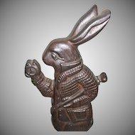 Alice In Wonderland White Rabbit Character Cast Iron Doorstop