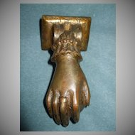 Very OLD Hand Doorknocker