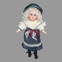 Cute German Gebruder Knock Doll In Factory Original Dress