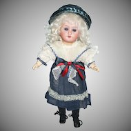 Cute German Gebruder Knock Doll In Factory Original Dress