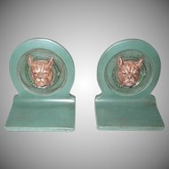 Small Bulldog Cast Metal 3D Bookends