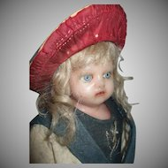Alluring German Poured Wax Doll Mystery Maker