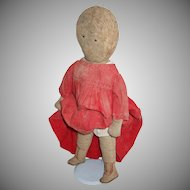 Darling Antique Folk Art Rag Doll With Note Attached