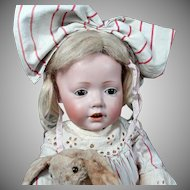 "19"" Adorable Kestner Hilda Wigged 237 Toddler Doll"
