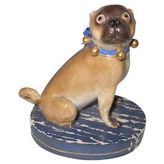 Staffordshire Pug Dog Figurine As Is