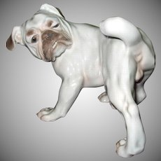 Awesome Character B & G Bing & Grondahl Bulldog Dog Figurine #1992 Made In Denmark