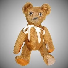 Unique Open/Close Tin Eyes Well Loved Old Mohair Teddy Bear Doll