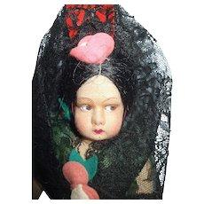 Wonderful Cloth Spain Spanish Senorita Doll Lenci Type