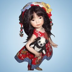 Beautiful Artist Sample By Dianna Effner Poppy In Red Oriental Doll Sculpted And Painted By Dianna Effner