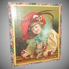 Amazing And Beautiful Images Picture Puzzle Blocks With Children, Dogs And Cats